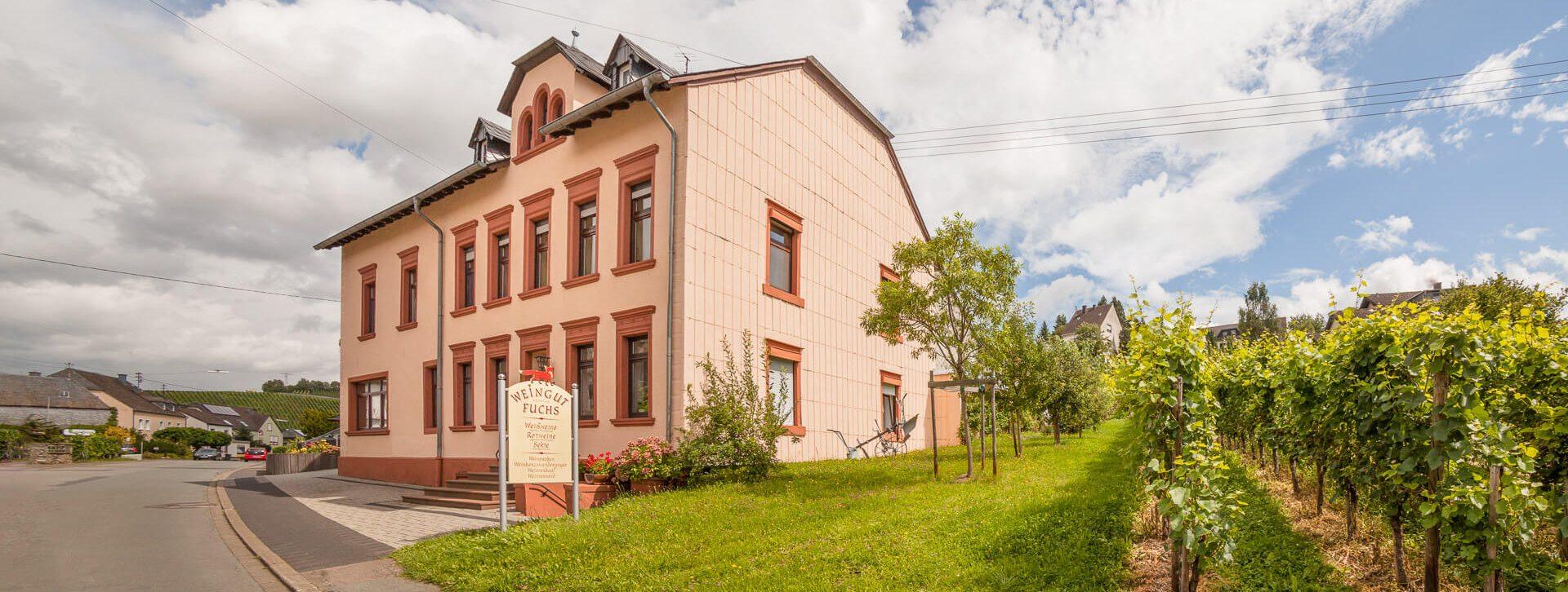 Weingut Andreas Fuchs. Wohnhaus und Probierstube.